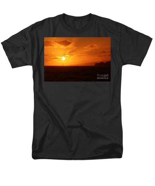 Hawaiian Sunset Men's T-Shirt  (Regular Fit) by Mary Mikawoz