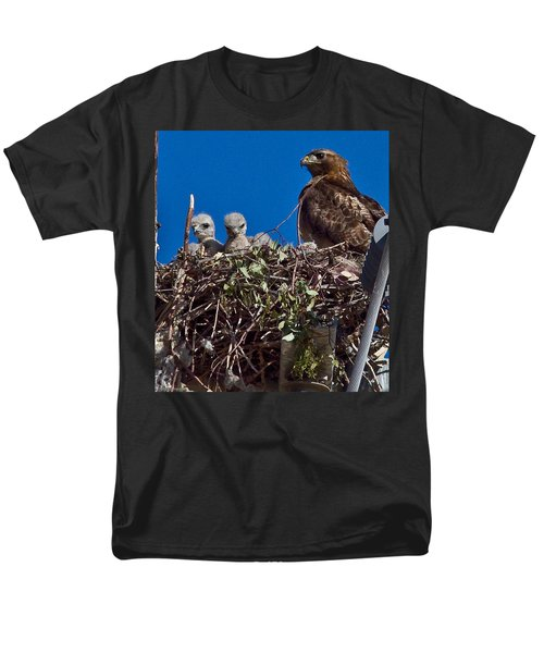 Men's T-Shirt  (Regular Fit) featuring the photograph Hawk Babies by Brian Williamson