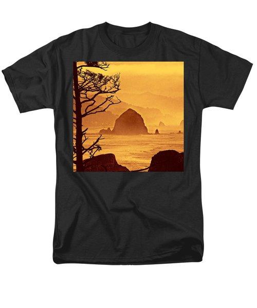 Men's T-Shirt  (Regular Fit) featuring the photograph Haystack Burnt Sienna by Wendy McKennon