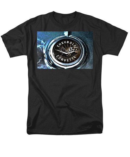 Men's T-Shirt  (Regular Fit) featuring the photograph Hdr Vintage Corvette Emblem Art by Lesa Fine