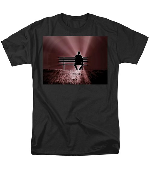 He Spoke Light Into The Darkness Men's T-Shirt  (Regular Fit) by Micki Findlay