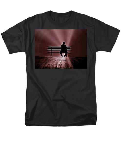 He Spoke Light Into The Darkness Men's T-Shirt  (Regular Fit)