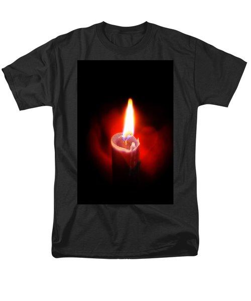 Heart Aflame Men's T-Shirt  (Regular Fit) by Sennie Pierson