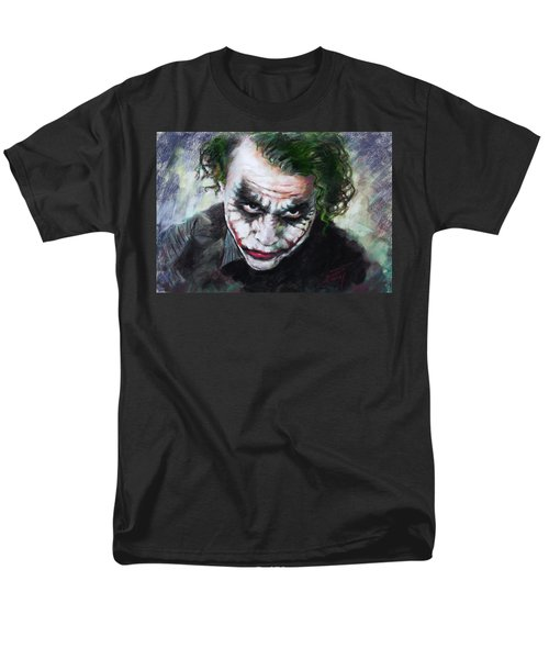 Heath Ledger The Dark Knight Men's T-Shirt  (Regular Fit) by Viola El