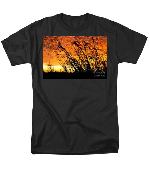 Sunset Heaven And Hell In Beaumont Texas Men's T-Shirt  (Regular Fit) by Michael Hoard