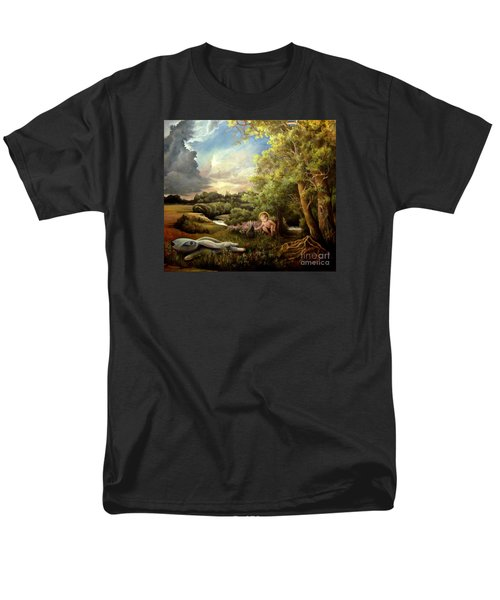 Men's T-Shirt  (Regular Fit) featuring the painting Heaven by Mikhail Savchenko