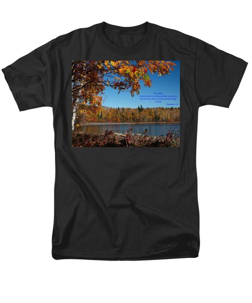 Hebrews 3 4 Men's T-Shirt  (Regular Fit) by James Peterson