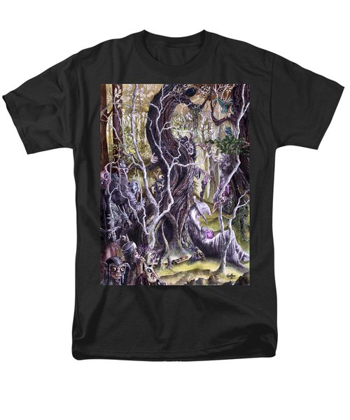 Men's T-Shirt  (Regular Fit) featuring the painting Heist Of The Wizard's Staff 2 by Curtiss Shaffer