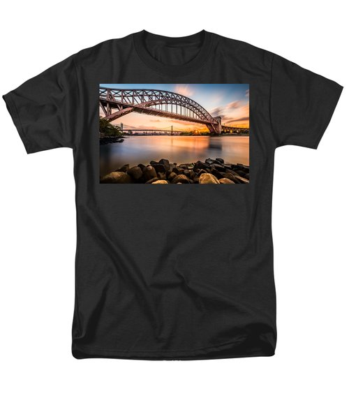 Hell Gate And Triboro Bridge At Sunset Men's T-Shirt  (Regular Fit) by Mihai Andritoiu