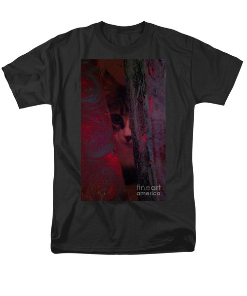 Men's T-Shirt  (Regular Fit) featuring the photograph Helping In The Art Studio by Jacqueline McReynolds