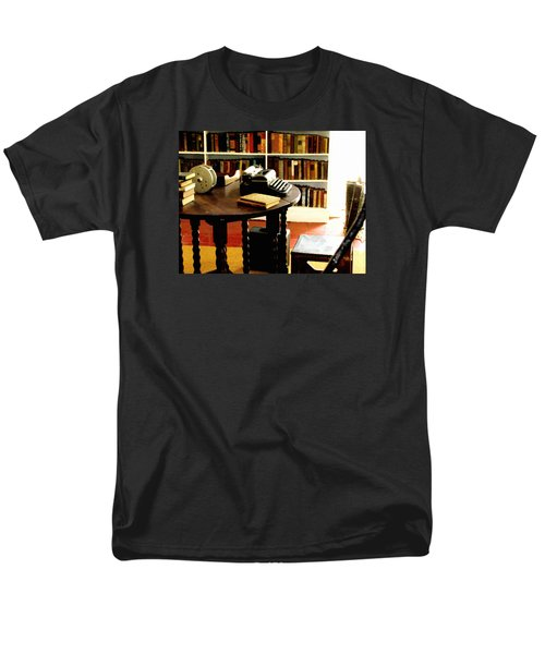 Men's T-Shirt  (Regular Fit) featuring the photograph Hemingway's Studio Ernest Hemingway Key West by Iconic Images Art Gallery David Pucciarelli
