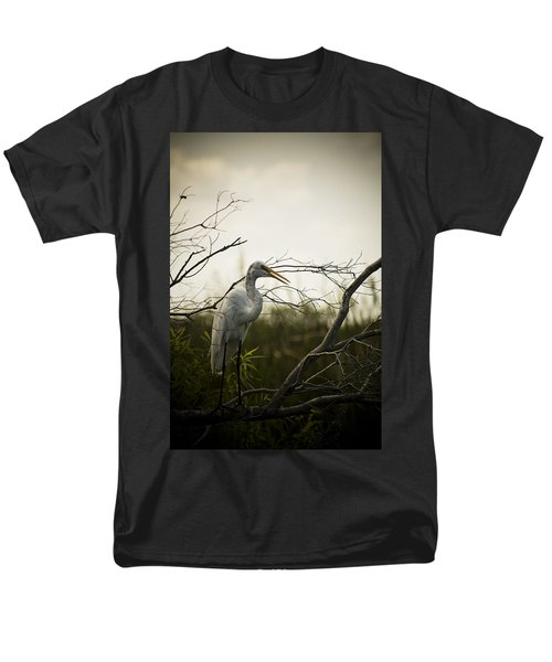 Heron At Dusk Men's T-Shirt  (Regular Fit) by Bradley R Youngberg
