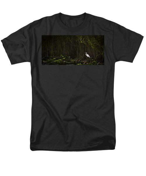 Heron In Grass Men's T-Shirt  (Regular Fit) by Bradley R Youngberg