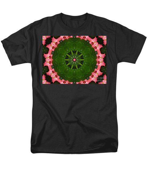 Men's T-Shirt  (Regular Fit) featuring the digital art Hibiscus Reflection Design by Oksana Semenchenko
