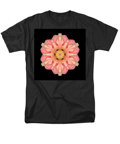 Hibiscus Rosa-sinensis I Flower Mandala Men's T-Shirt  (Regular Fit)