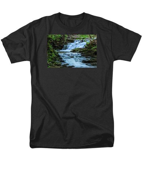 Hidden Falls Men's T-Shirt  (Regular Fit) by Julie Andel