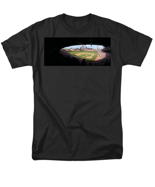 High Angle View Of A Baseball Stadium Men's T-Shirt  (Regular Fit) by Panoramic Images