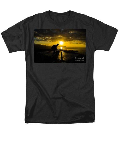 Men's T-Shirt  (Regular Fit) featuring the photograph Hiker @ Diamondhead by Angela DeFrias