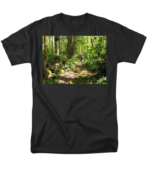 Hiking Off Trail Men's T-Shirt  (Regular Fit) by Melinda Fawver