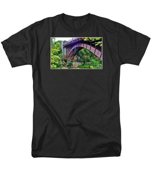 Men's T-Shirt  (Regular Fit) featuring the photograph Historic Ausable Chasm Bridge by Patti Whitten