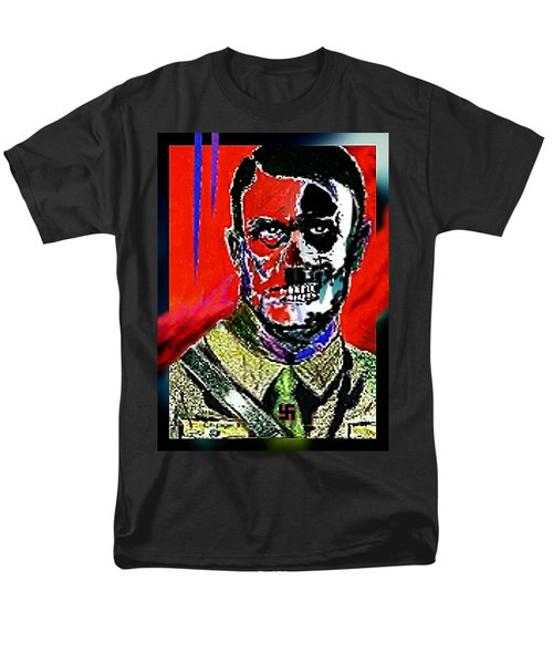 Men's T-Shirt  (Regular Fit) featuring the painting Hitler  - The  Face  Of  Evil by Hartmut Jager