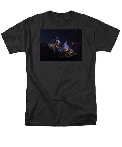 Hogwarts Castle In Lights Men's T-Shirt  (Regular Fit) by Kathy Long