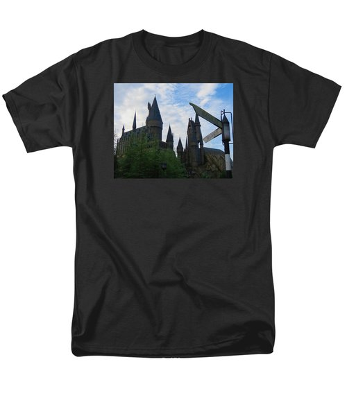 Hogwarts Castle With Signs Men's T-Shirt  (Regular Fit) by Kathy Long