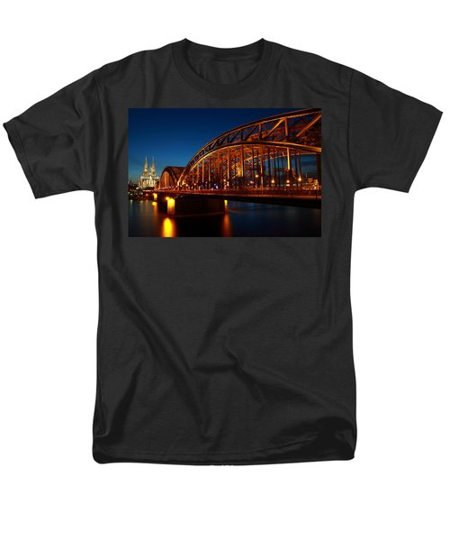 Hohenzollern Bridge Men's T-Shirt  (Regular Fit) by Mihai Andritoiu