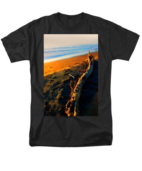 Men's T-Shirt  (Regular Fit) featuring the photograph Hokitika Beach New Zealand by Amanda Stadther