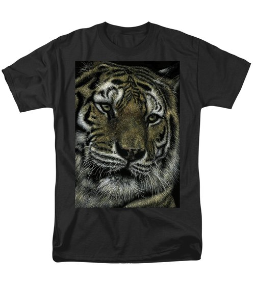 Men's T-Shirt  (Regular Fit) featuring the drawing Holding Court by Sandra LaFaut