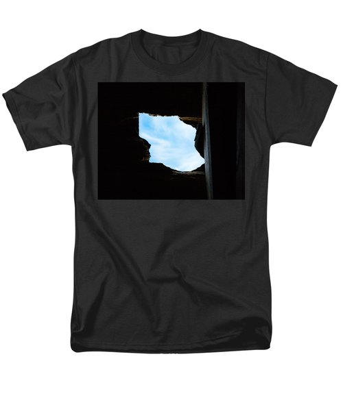 Men's T-Shirt  (Regular Fit) featuring the photograph Hole In The Roof  by Gary Heller