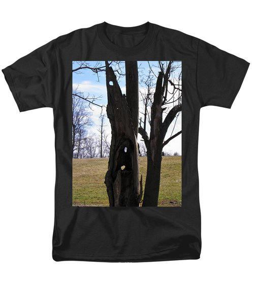 Men's T-Shirt  (Regular Fit) featuring the photograph Holey Tree Trunk by Nick Kirby