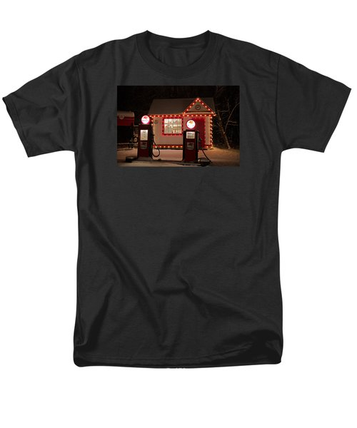 Holiday Service Station Men's T-Shirt  (Regular Fit) by Susan  McMenamin