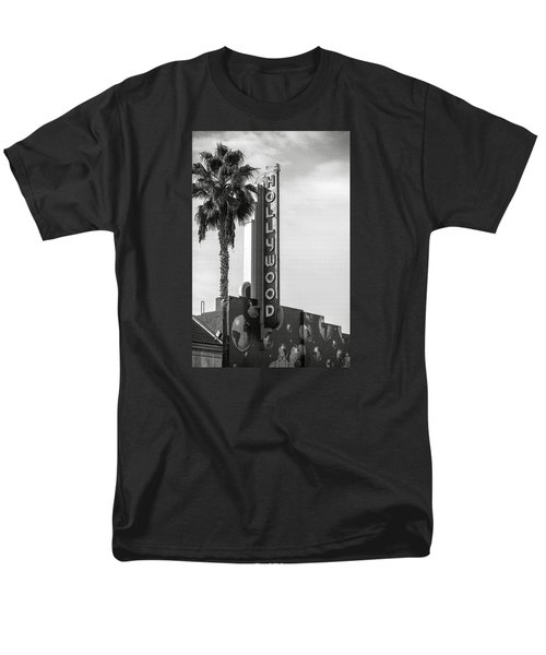 Hollywood Landmarks - Hollywood Theater Men's T-Shirt  (Regular Fit) by Art Block Collections