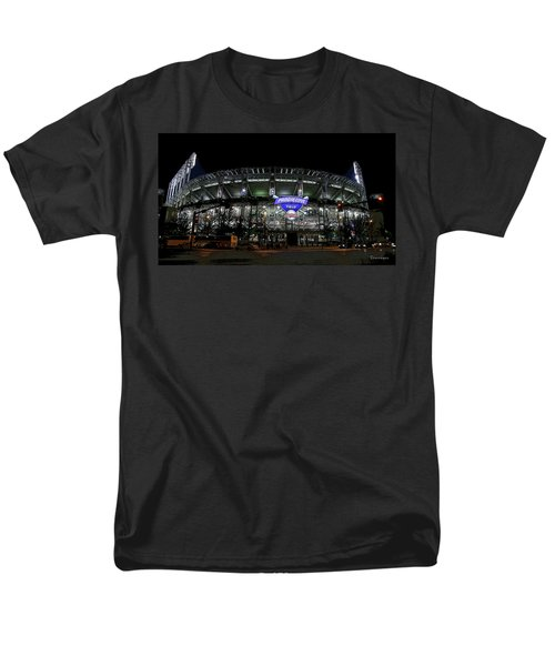Home Of The Cleveland Indians Men's T-Shirt  (Regular Fit) by Terri Harper