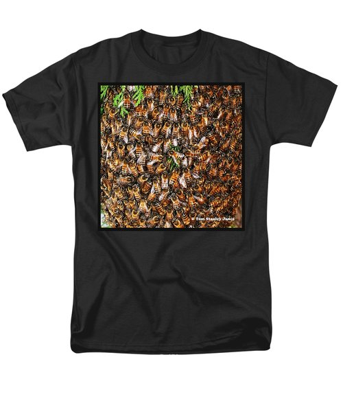 Men's T-Shirt  (Regular Fit) featuring the photograph Honey Bee Swarm by Tom Janca