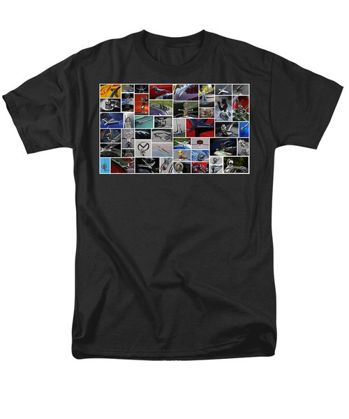 Men's T-Shirt  (Regular Fit) featuring the photograph Hood Ornament Collage by Mike Martin