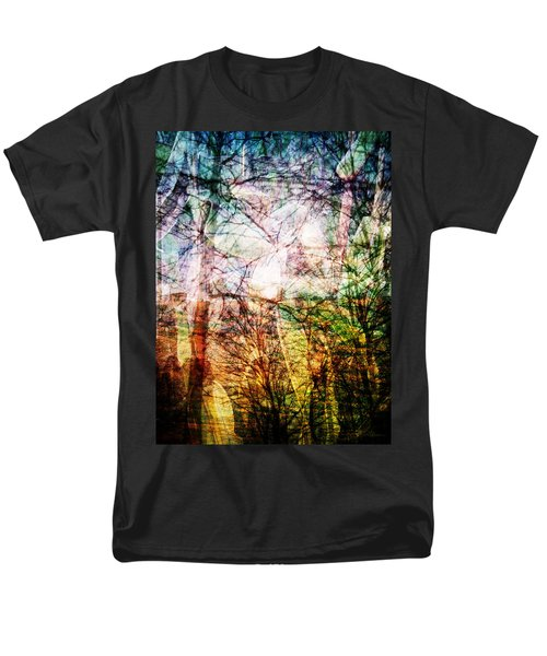 Men's T-Shirt  (Regular Fit) featuring the mixed media Hoosier Country Opus 1 by Sandy MacGowan