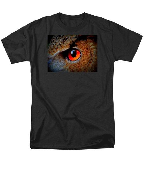 Horned Owl Eye Men's T-Shirt  (Regular Fit) by David Mckinney