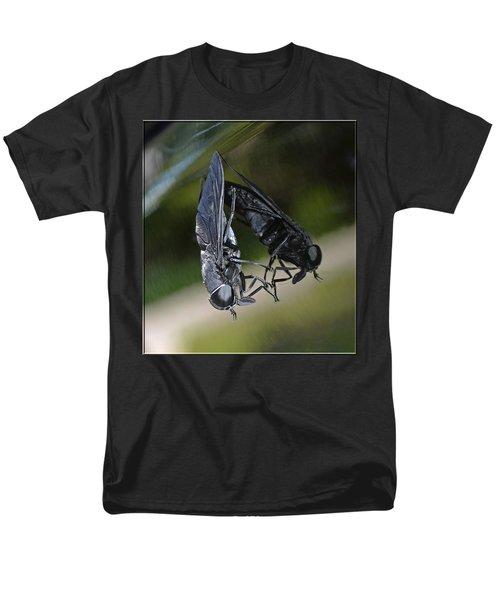 Men's T-Shirt  (Regular Fit) featuring the photograph Horse Fly by DigiArt Diaries by Vicky B Fuller