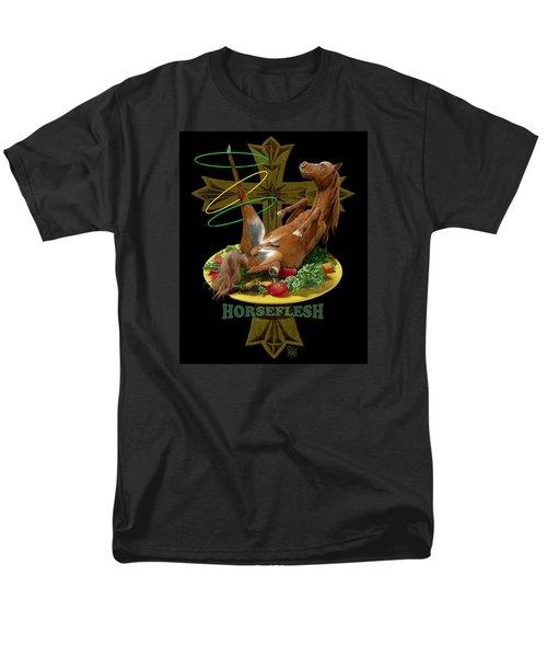 Men's T-Shirt  (Regular Fit) featuring the digital art Horseflesh by Scott Ross