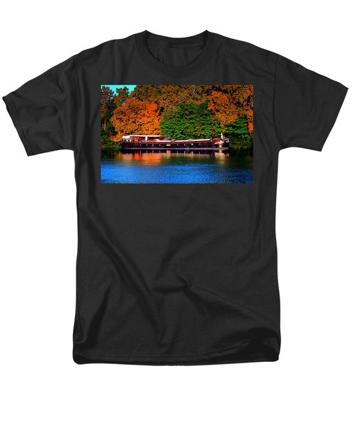 Men's T-Shirt  (Regular Fit) featuring the photograph House Boat River Barge In France by Tom Prendergast