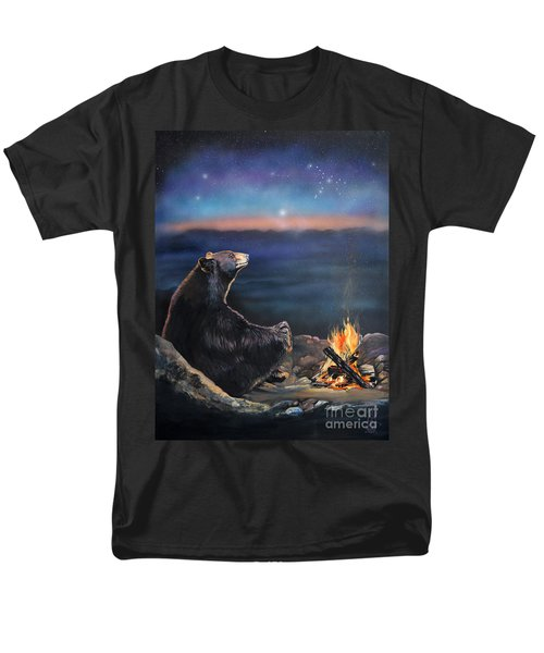 How Grandfather Bear Created The Stars Men's T-Shirt  (Regular Fit) by J W Baker