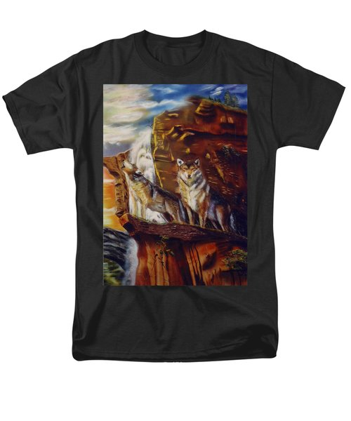 Men's T-Shirt  (Regular Fit) featuring the painting Howling For The Nightlife  by Thomas J Herring