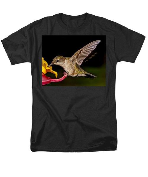 Ruby Throated Hummingbird Men's T-Shirt  (Regular Fit) by Brian Caldwell