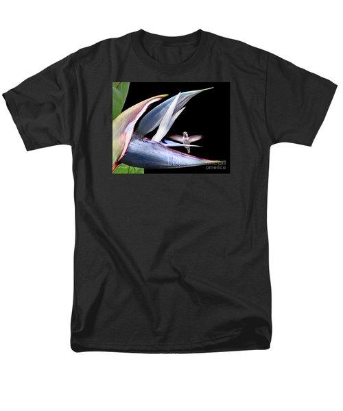 Men's T-Shirt  (Regular Fit) featuring the photograph Hummingbird Paradise by Jennie Breeze