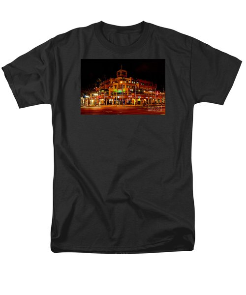 Men's T-Shirt  (Regular Fit) featuring the photograph Huntington Beach Downtown Nightside 1 by Jim Carrell