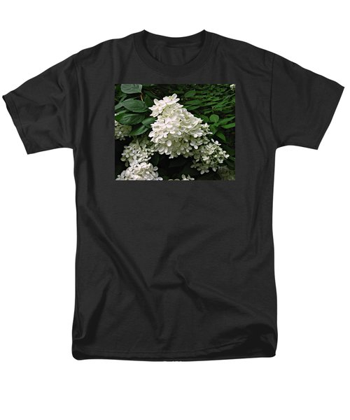 Men's T-Shirt  (Regular Fit) featuring the photograph Hydrangea Arborescens ' Annabelle ' by William Tanneberger