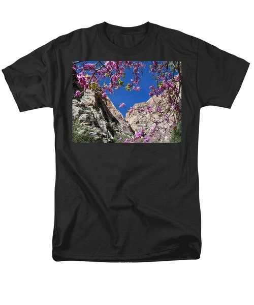 Ice Box Canyon In April Men's T-Shirt  (Regular Fit) by Alan Socolik