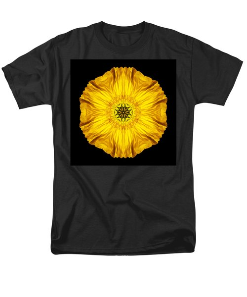 Iceland Poppy Flower Mandala Men's T-Shirt  (Regular Fit)